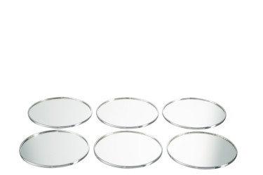 Boîte de 6 sous-verres ronds