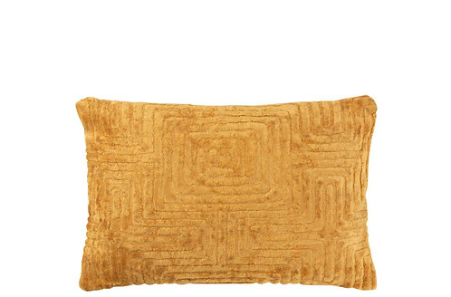 Coussin Labyrinthe Viscose Ocre