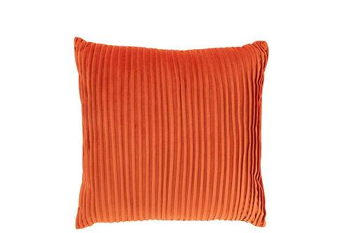 Coussin Lignes Velours Orange