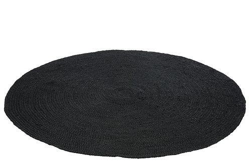 Tapis Rond Jute Noir