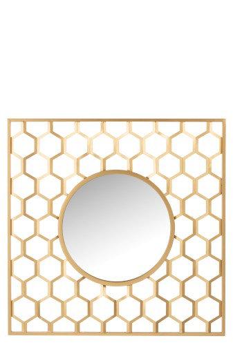 Miroir alvéole or mat