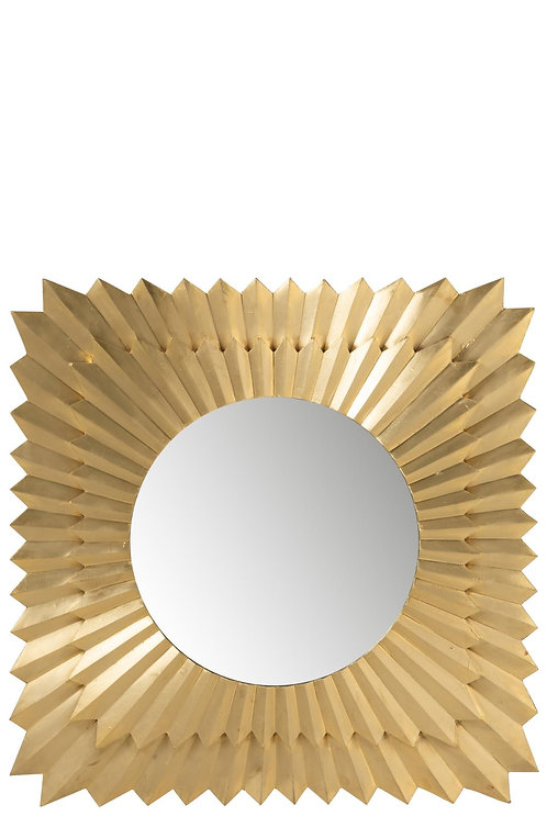 Miroir Carre Rayons Laiton/Mdf Or