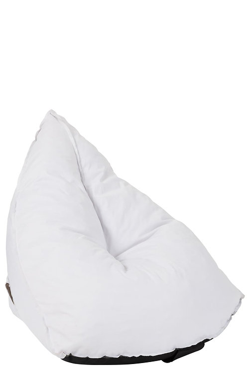 Pouf Poire Triangulaire Polyester Blanc