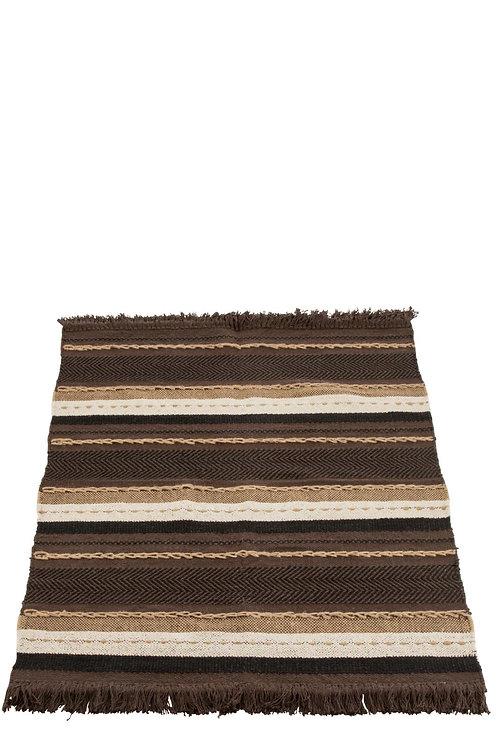 Plaid Ethnique Coton Marron/Noir/Beige