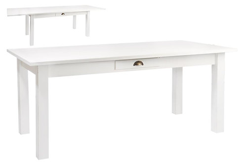 Table Rectangle Escamotable Bois Blanc