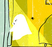 ghost looking out window