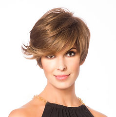 warm golden brown short hairstyle