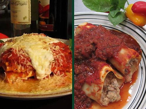 Two Meat Lasagna/Two Meat Manicotti