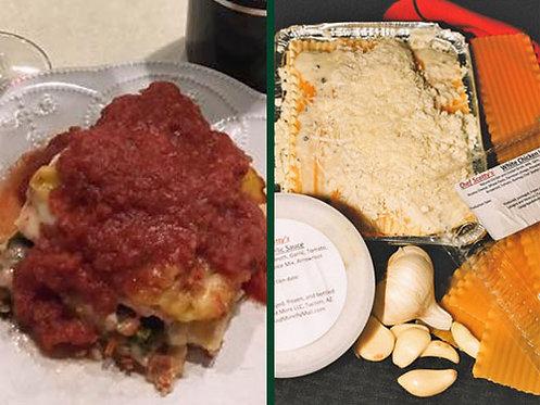 Vegetable Lasagna/Chicken Lasagna