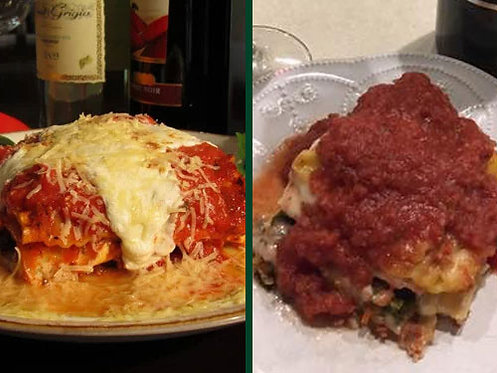 Two Meat Lasagna/Vegetable Lasagna