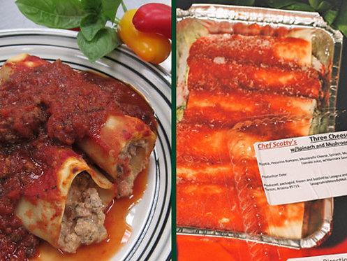 Two Meat Manicotti/Three Cheese Manicotti