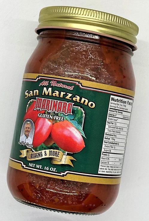 Chef Scotty's San Marzano Marinara/Case 16 oz.