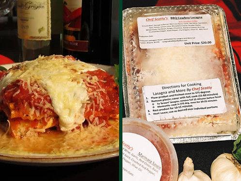 Two Meat Lasagna/BBQ Cowboy Lasagna