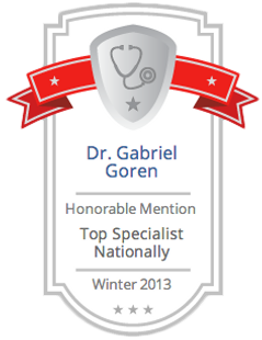 Dr. Gabirel Goren Honorable Mention HeathTap