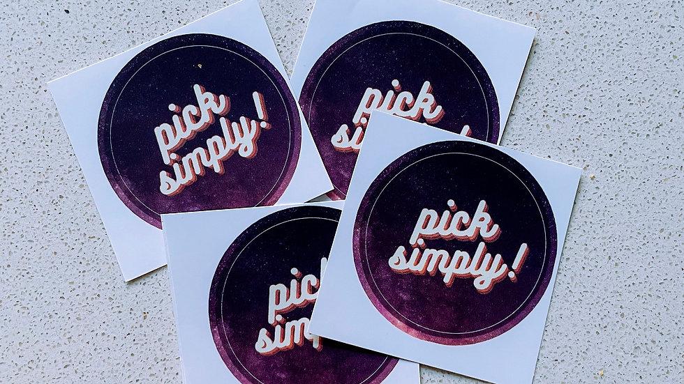Pick Simply Sticker