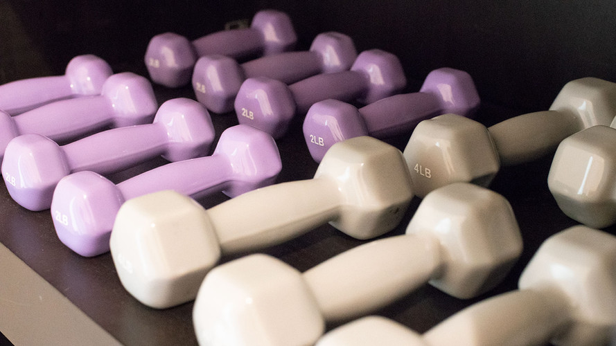 barre dumbbells