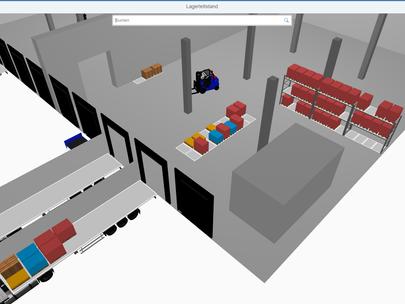 LogiMAT 2020: SWAN zeigt erstmals SAP 3D-Logistics-Cockpit
