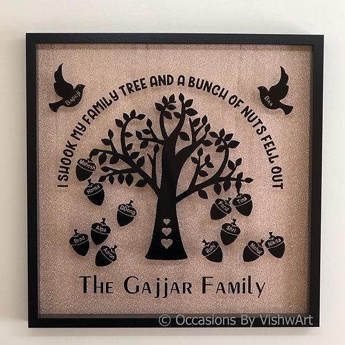 MAHAN - Personalised Family Tree Frame 50x50cm