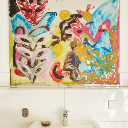 Kamilla Bischof & Nico Ihlein UNTITLED 104 x 120 cm, mirror painting, 2018