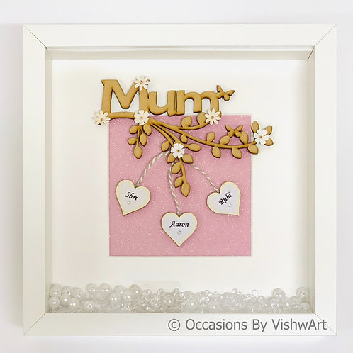 AARUSHI - Personalised Wooden Mum Frame 25 x 25
