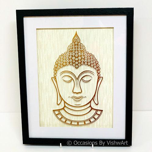 Gold Foil Buddha Frame