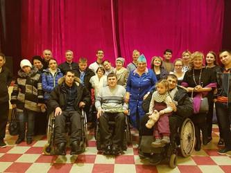 """Посещение  инвалидами Театр-студии """"Окно"""""""