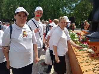 Участие в митинге, посвященном 77-й годовщине ВОВ