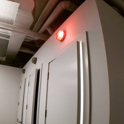 Privacy Rooms with Occupancy Lights