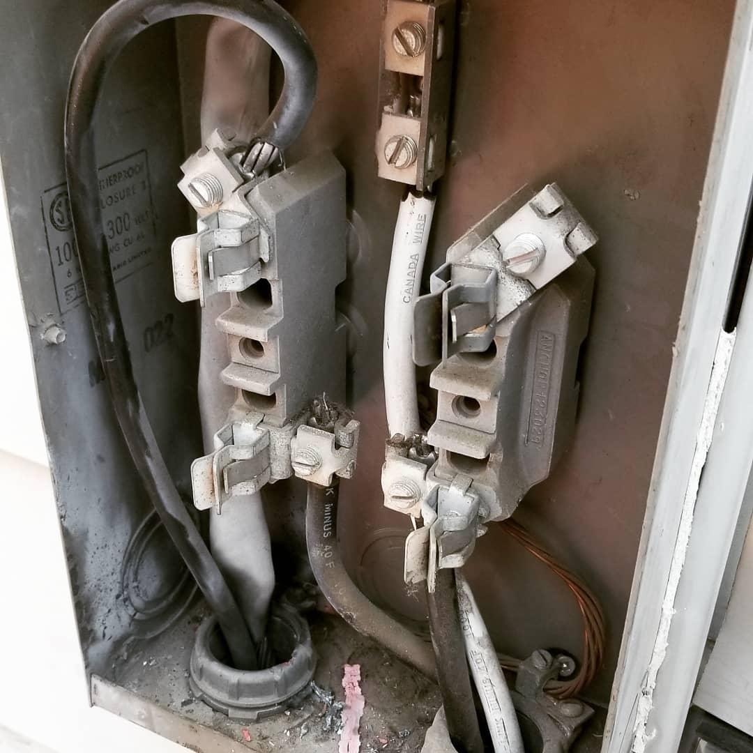 Inside Damaged Meter Socket