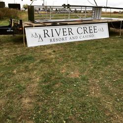 River Cree Casino Signage