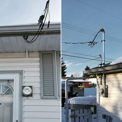 60amp Overhead Service Upgrade Before and After