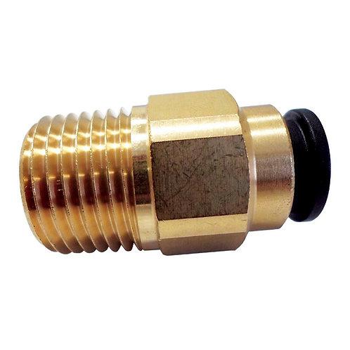 Brass 12mm x 1/2 NPT Staight Adaptor