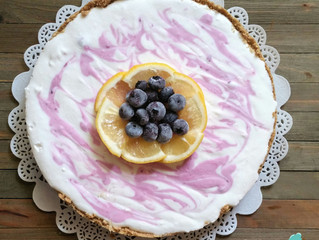 Raw Lemon Blueberry Cheesecake