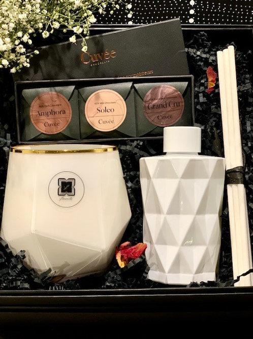 White Picasso Diamond White Diffuser & Trio Cuvee Chocolate