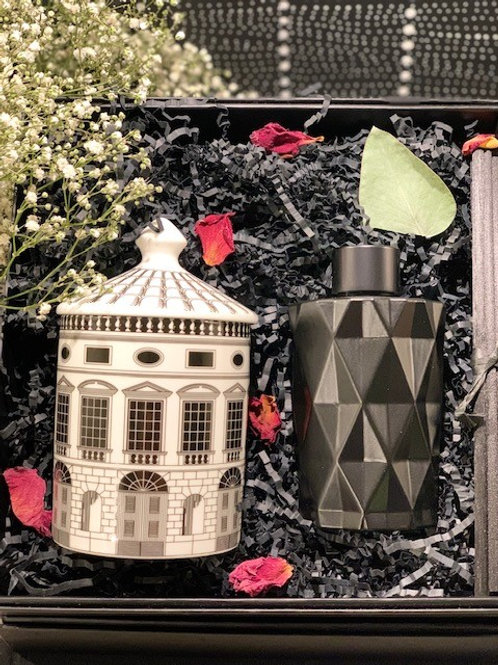 Fornasetti Architecture Candle Black Diamond Diffuser