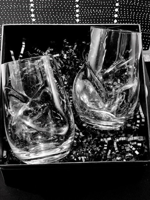 Twisted Stemless Wine or Gin/Whisky Glass