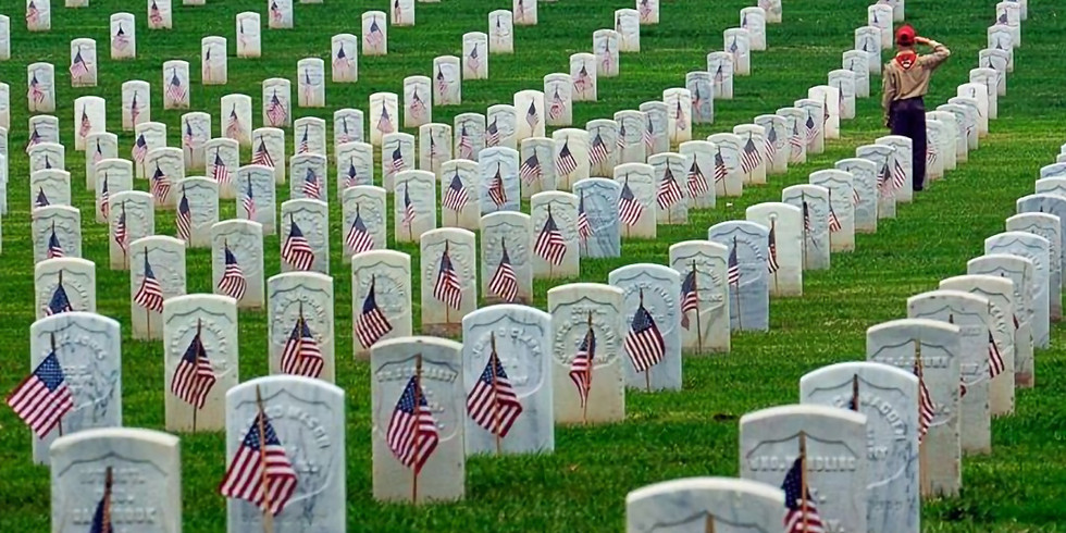 Flag Placement @ Golden Gate National Cemetery
