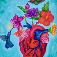 Corazón floreciendo