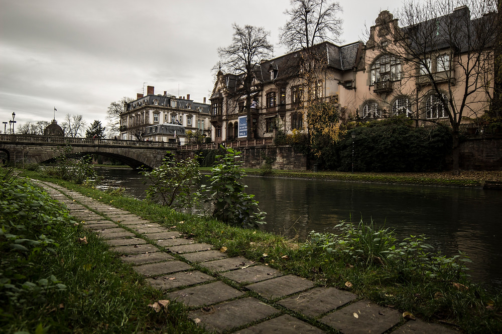 One of the many canals of Strasbourg