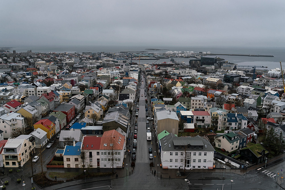 Cityscape view of Reykjavik