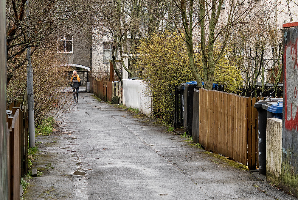 An alley in Reykjavik