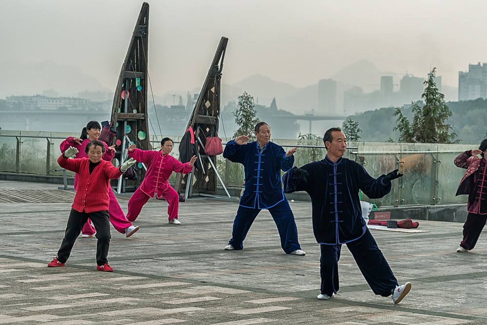 A quick Tai Chi session to end my time in Huangshan