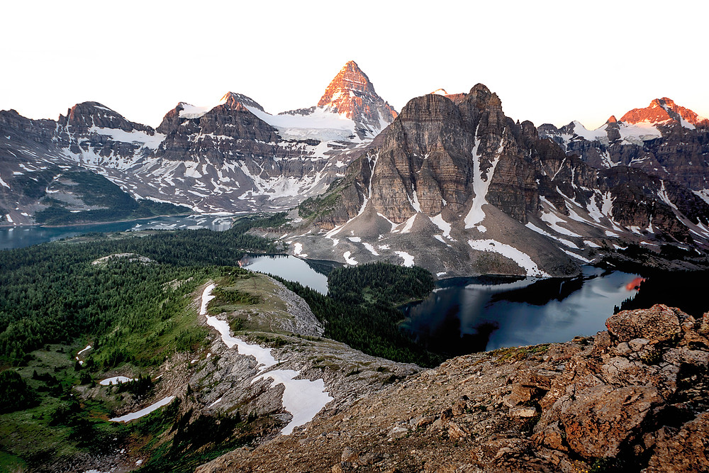 Sunrise from The Nub looking out towards Mt. Assiniboine