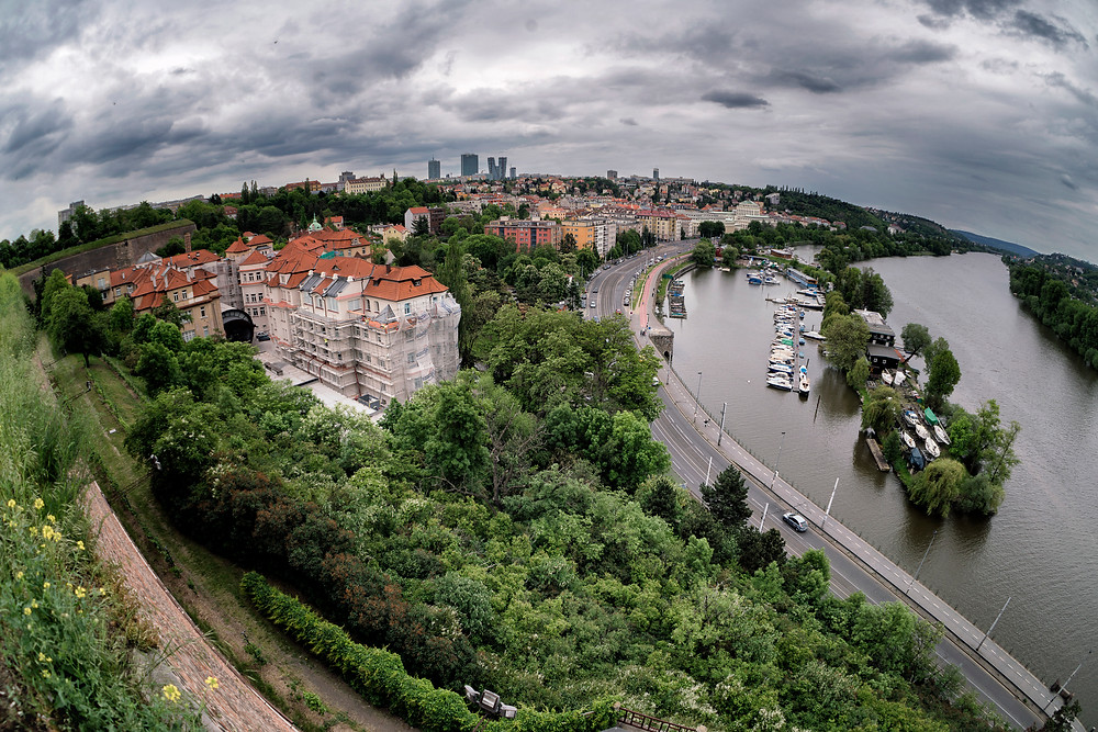 Awesome views over Prague from Vyšehrad