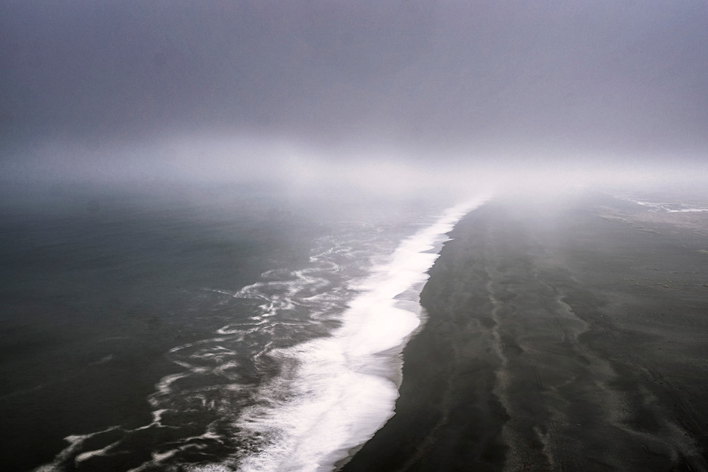Endless beaches mixed with the fog is a bit creepy