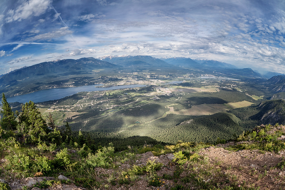 Looking out over Invermere, British Columbia.