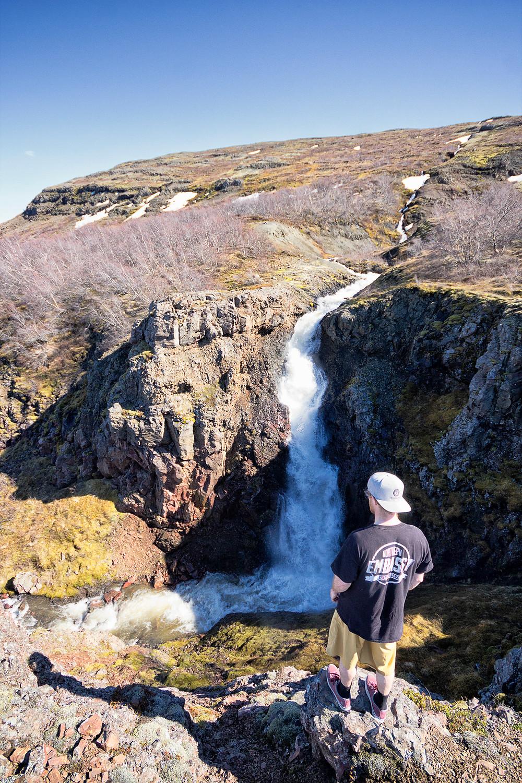 Lambafoss Waterfall