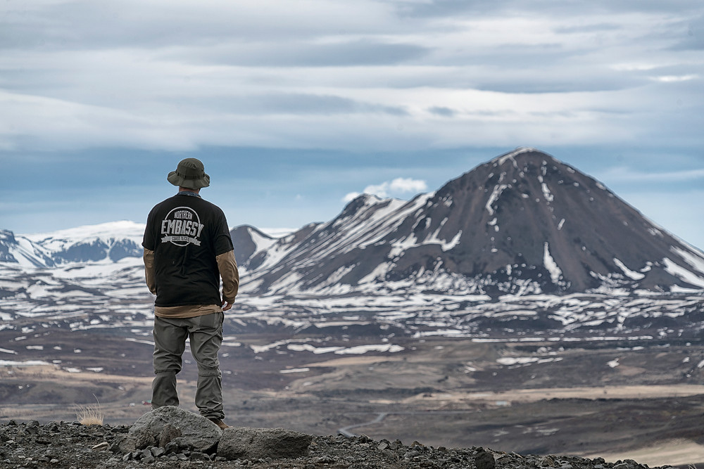 Looking out towards even more volcanoes