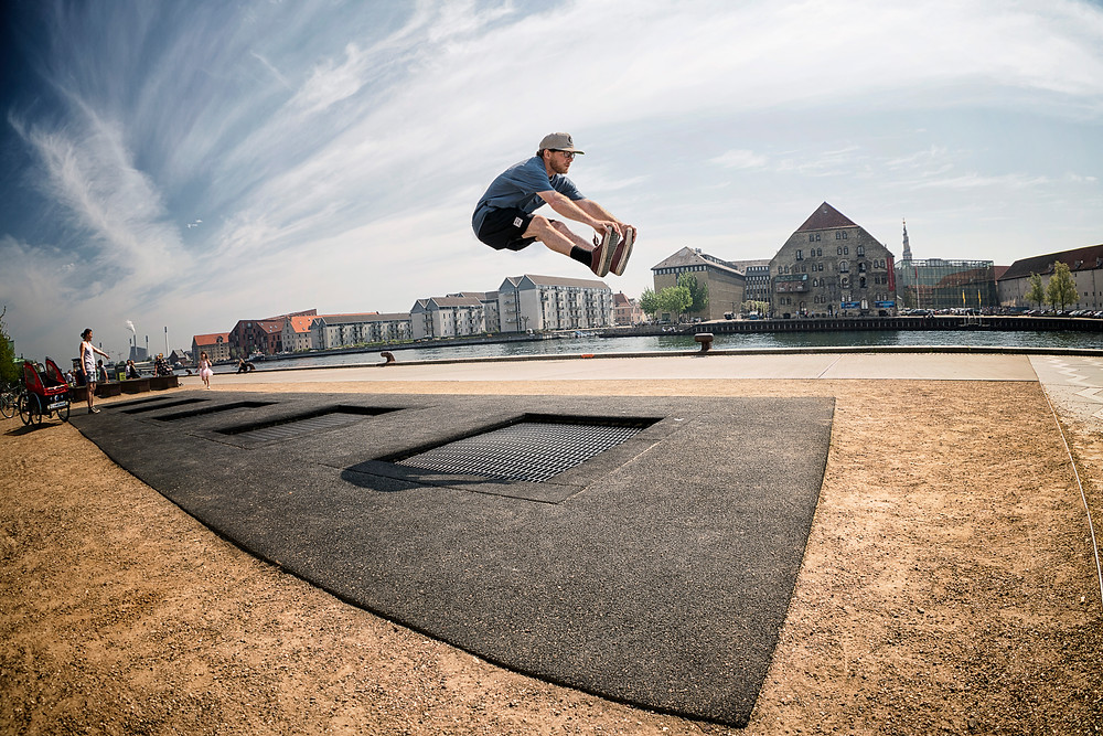 Passed by these sidewalk trampolines... Too much fun!