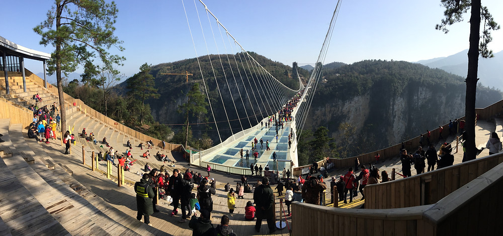 The Glass Bridge in Zhangjiajie